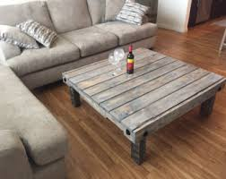 Coffee Table Repurposed Pallet Wood Reclaimed Wood TablePallet Coffee Table Etsy