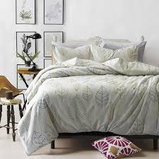 100 cotton leaf pattern bedding set home bed sheets duvet cover comforter sets twin queen king
