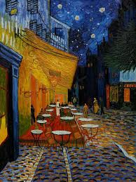 van gogh cafe at night