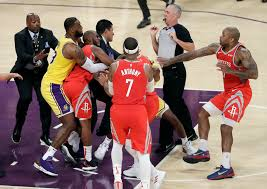 Lakers-Rockets brawl: NBA suspends Brandon Ingram, Rajon ...