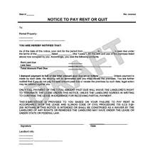late rent notice form example thumbnail