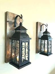 L Indoor Lantern Lights Wall Top Lofty Hanging  Lanterns Rustic Candle Sconces