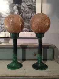 Decorative Marble Balls Pair of Decorative Marble Balls Circa 100 Decorative Collective 48