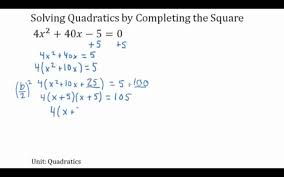 completing the square with lead coefficient