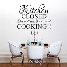 kitchen closed wall art quote sticker  on vinyl wall art quotes for kitchen with kitchen closed wall art quote sticker kitchen dining room home