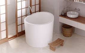 of age old bathing traditions from the japanese with the most modern of bathing amenity delivers this wonderful deep single person soaking bathtub