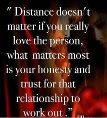 """Quotes About Trust And Love In Relationships Famous Trust Quotes """"Distance Doesn't Matter If You Really Love The 73"""