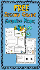 best ideas about grammar review nd grade morning work or homework for second grade math and language arts spiral review