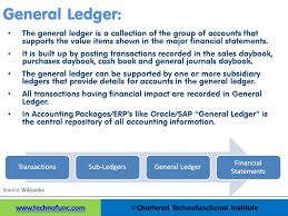 General Ledgers Technofunc What Is A General Ledger