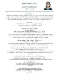 Master Of Science In Accounting Resume Professional Resume Templates