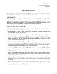 Resum Firefighter Job Description Template Resume Examples Promotion 95