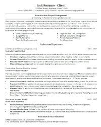 Construction Resume Template Stunning Construction Management Resume Construction Manager Resume Template