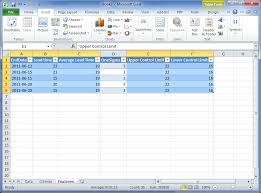 Control Limit Chart In Excel Control Chart How To Create One In Excel 2010 Hakan