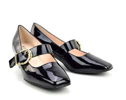 modshoes black patent 60s mary janes style shoes