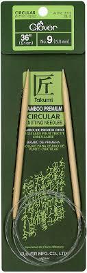 ‹back to yarn & needle crafts. Takumi Bamboo Circular Knitting Needles 36 Size 9 5 5mm 051221253393