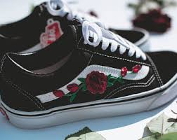 gucci vans custom. vans old skool custom - \u0027rose patch\u0027 eur 34.5 47 unisex gucci
