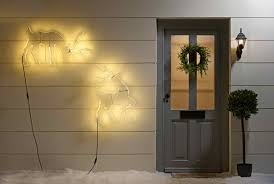 lighting on wall. Reindeer Silhouette Wall Lights Lighting On