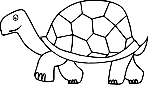 Small Picture Turtle Running Outline Coloring Coloring Pages