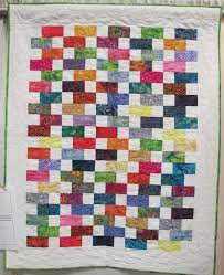 Baby Bricks by Adrienne Hickman, quilted by Laura Lee Fitz | Heart quilt,  Childrens quilts, Scrap quilts