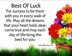 Good Wishes Quotes Good luck quotes And wishes Meditations Pinterest Exam 2