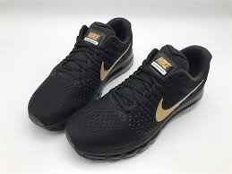nike running shoes black 2017. nike air max 2017 training running shoes black gold for sale-4
