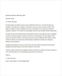 How To Write A Warning Letter To An Employee 13 Employee Warning Letter Template Pdf Doc Free