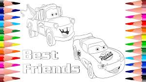 profitable lightning mcqueen and mater coloring pages rare mcqueen from disney