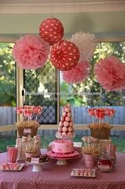 Party Decorations Tissue Paper Balls Pink theme Party ideas Tissue Paper Pom Poms Honeycomb Balls Paper 31