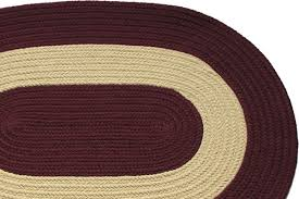 8 earth blue red round braided rug