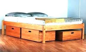 King Size Bed With Storage Underneath Platform Bed With Drawers ...