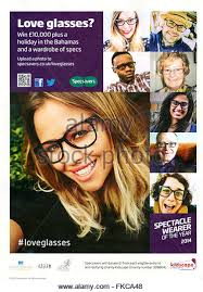specsavers advert stock photos specsavers advert stock images  2010s uk specsavers magazine advert stock image