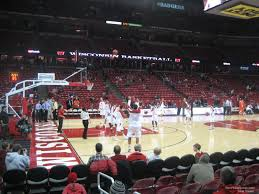 University Of Wisconsin Kohl Center Seating Chart Kohl Center Section 110 Rateyourseats Com
