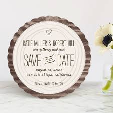 wood carving save the dates