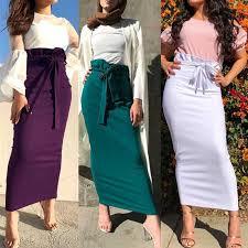 Plus Size Ruffles Skirts <b>Faldas Mujer Moda 2019</b> Summer Abaya ...