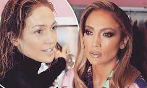 jennifer lopez 49 goes from makeup free to pletely glam daily mail