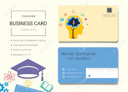 Teacher Business Card Or Name Card Template Simple Style Also