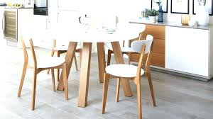 small round dining tables table with 4 chairs oak and white leaf