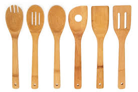 kitchen utensils. Amazon.com: Premium Kitchen Cooking Utensils Bamboo Spoon Spatula, 6 Set Of Tools.: \u0026 Dining W