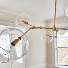 handblown glass globe bubble light chandelier pendant