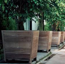 Large Patio Planter Boxes Beautiful with Best 25 Tree Planters Ideas On  Pinterest Recycled Planters