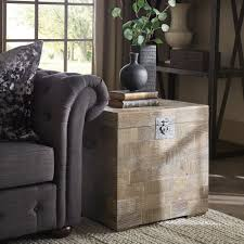 Tucker Reclaimed Wood Patchwork Storage Trunk Chest Side Table By INSPIRE Q  Artisan