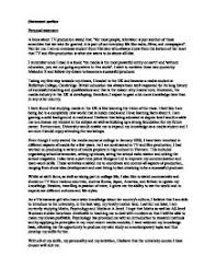 media personal statement a level media studies marked by  page 1 zoom in