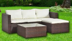 piece malaga rattan sofa modular set