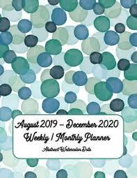 17 Month Calendar August 2019 December 2020 Weekly Monthly Planner 17