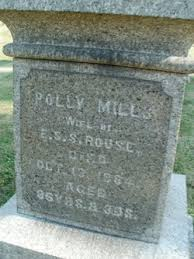 Polly Mills Rouse (Unknown-1884) - Find A Grave Memorial