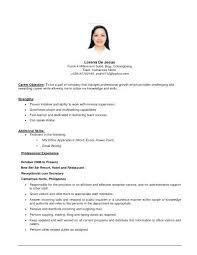 Sample Job Objectives In Resume Objective Resumes Career Objectives Custom Carrier Objectives For Resume