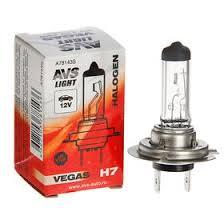 <b>Лампа</b> автомобильная <b>AVS Vegas</b>, <b>H7</b>, 12 В, 55 Вт (1916281 ...