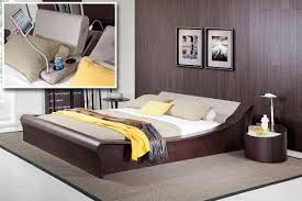 modern platform bedroom sets. Geneva Contemporary Brown Oak Platform Bed W/ Lights, Cup Holders And IPad  Holder \u2013 MODEL 15343|15344 Modern Platform Bedroom Sets