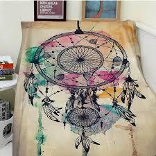 Dream Catcher Blankets Blanket plaid a blanket Plaids Warmth Soft Plush Dream Catcher 77