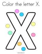The benefits of coloring pages: Letter X Coloring Pages Twisty Noodle